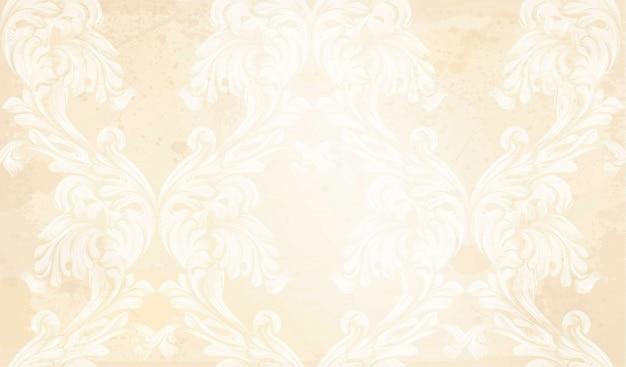 Damask pattern vector ornament decor. baroque background textures Premium Vector