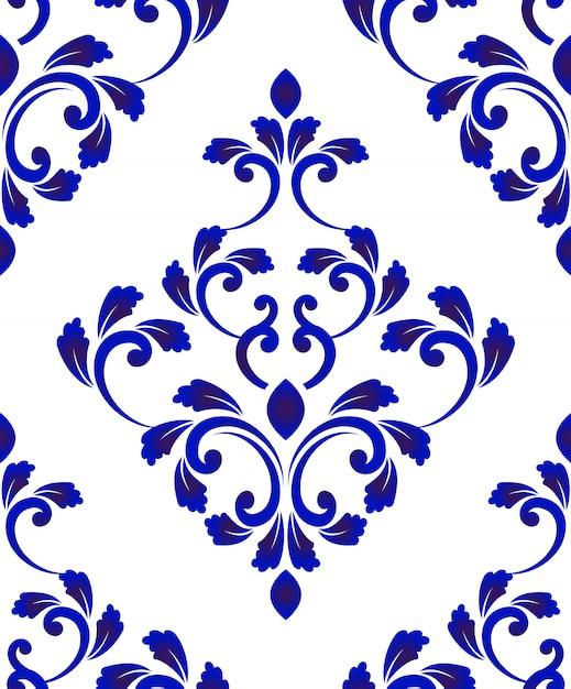 Damask pattern Premium Vector