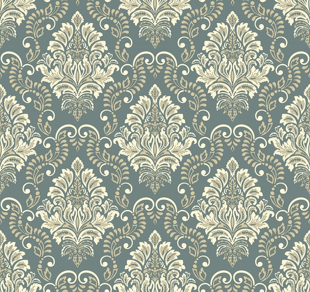 Damask seamless emboss pattern background.  classical luxury old damask ornament, royal victorian seamless texture  . vintage exquisite floral baroque template. Free Vector