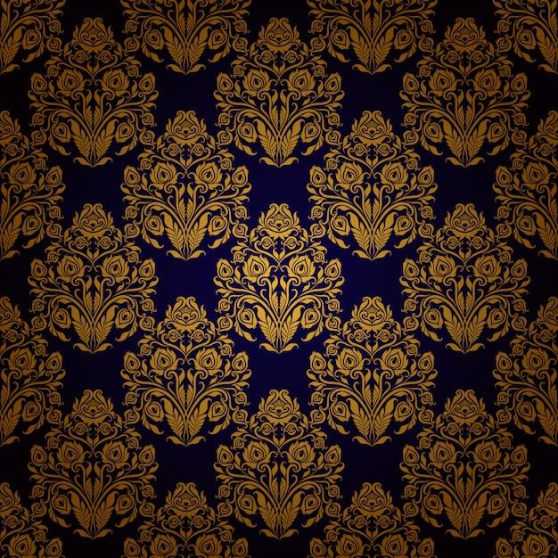 Damask seamless floral pattern. Premium Vector