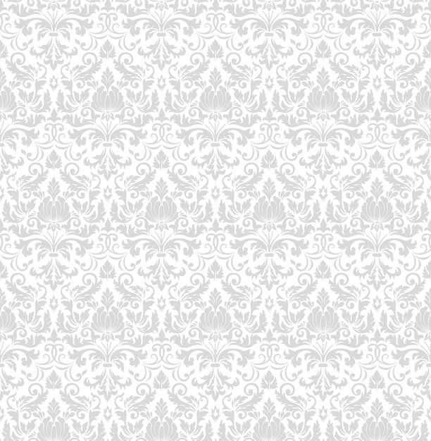 Damask seamless pattern background. classical luxury old fashioned damask ornament, royal vic Free Vector
