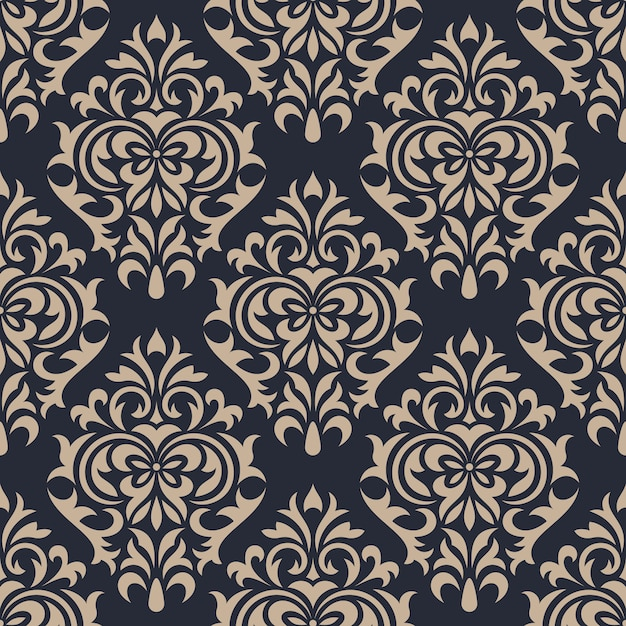 Damask seamless pattern background. classical luxury ornament wallpaper Premium Vector