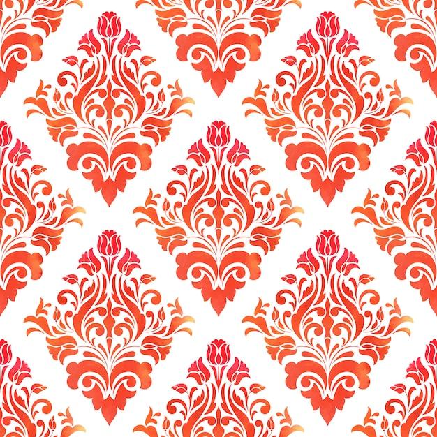 Free Vector | Damask seamless pattern background. elegant ...