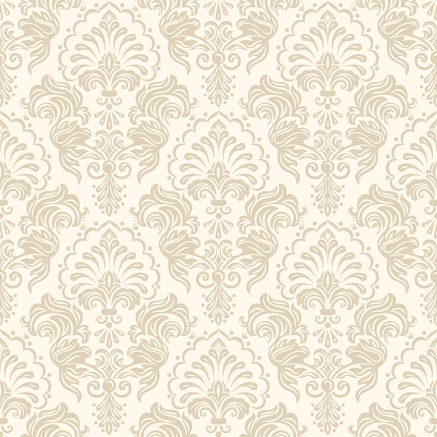 Damask Seamless Pattern Background Vector Free Download Awesome Background Pattern
