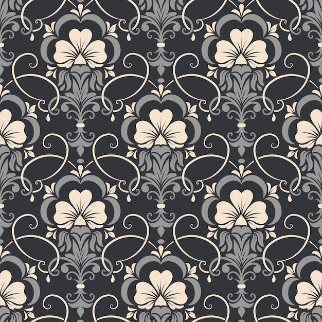 Damask seamless pattern background Free Vector