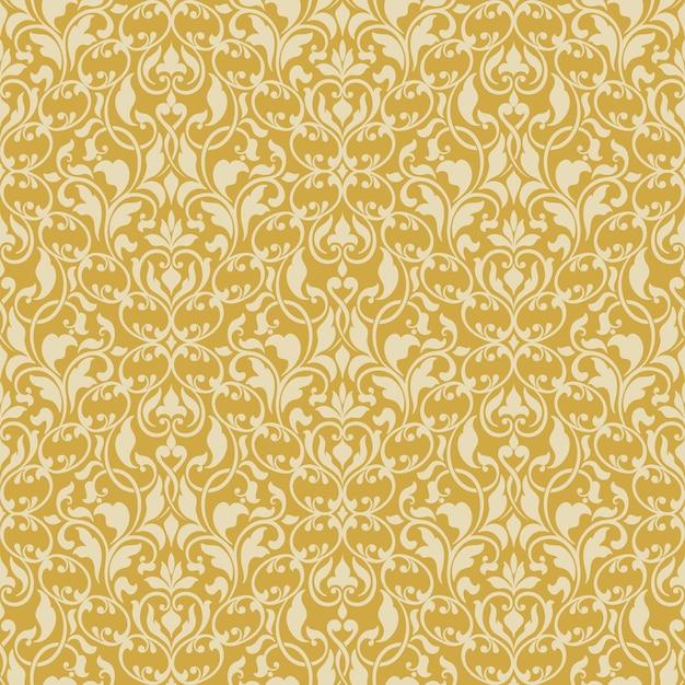 Damask seamless pattern background Free Vector