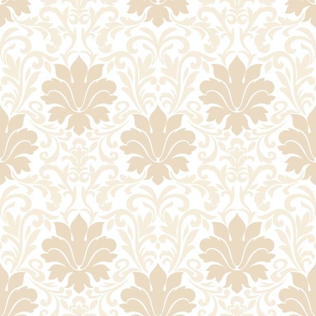 Дамасской бесшовные модели. классический роскошный старинный дамасский орнамент, королевская викторианская бесшовная текстура для обоев, текстиля, упаковки. Бесплатные векторы