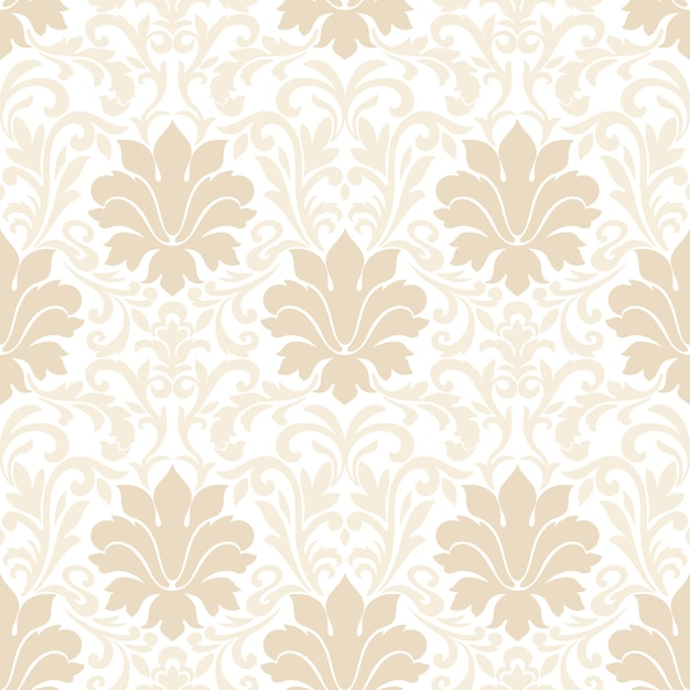 Damask seamless pattern. classical luxury old fashioned damask ornament, royal victorian seamless texture for wallpapers, textile, wrapping. Free Vector