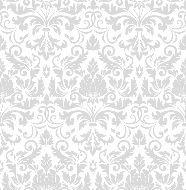 Damask seamless pattern element. classical luxury old fashioned damask ornament Free Vector
