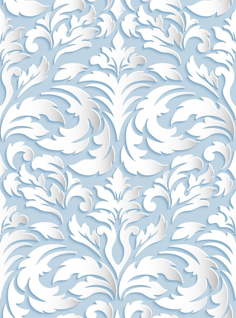 Damask seamless pattern Free Vector