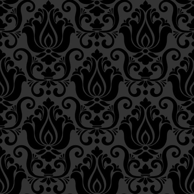 Damask styled ornamental pattern Free Vector