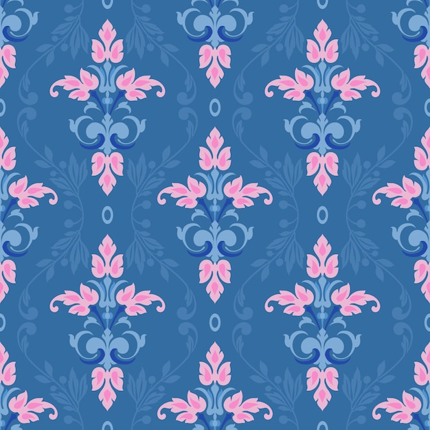 Damask vector classic pattern Premium Vector