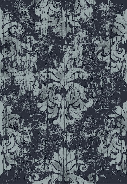 Damask vintage pattern. grunge . dark and light colors Free Vector