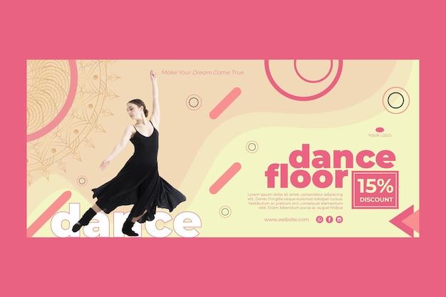 Modello di banner di classe di danza con foto Vettore gratuito