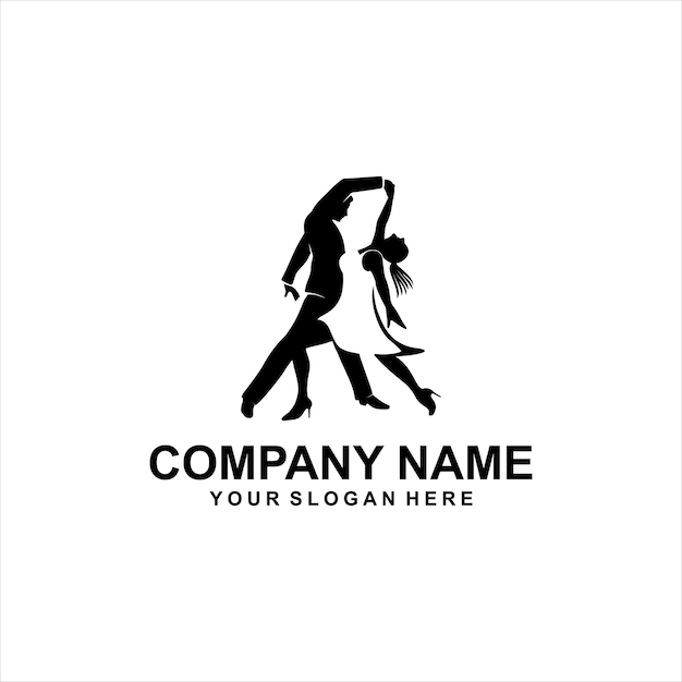 Dance logo Premium Vector