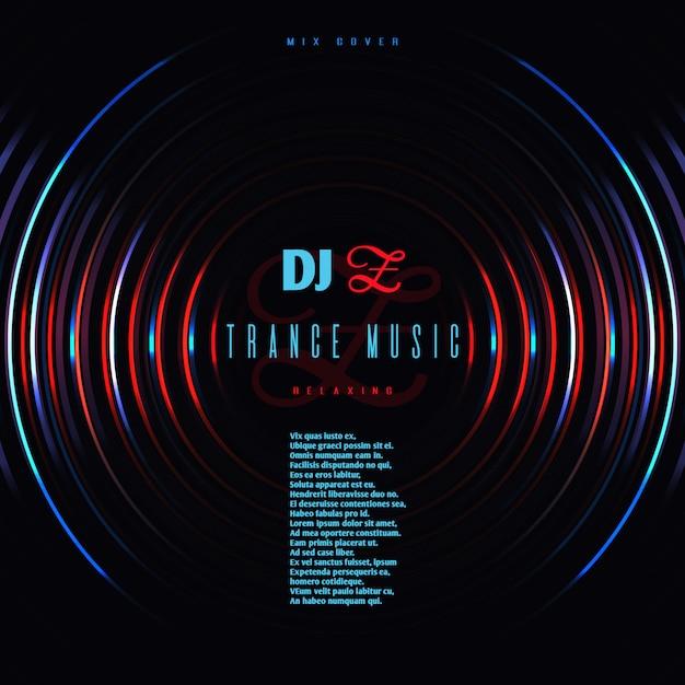 Dance music club party vector poster Premium Vector