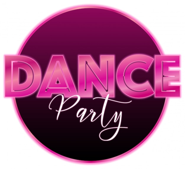 A dance party icon Free Vector