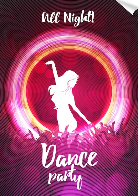 dance party poster design vector free download