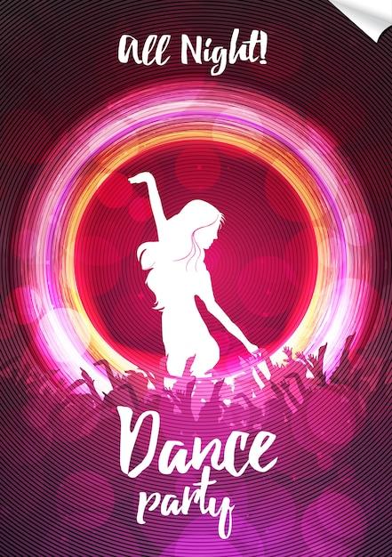 dance party poster design vector