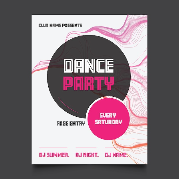 Dance party poster Free Vector