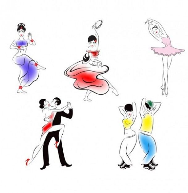 Dance People Sketches Vector | Free Download