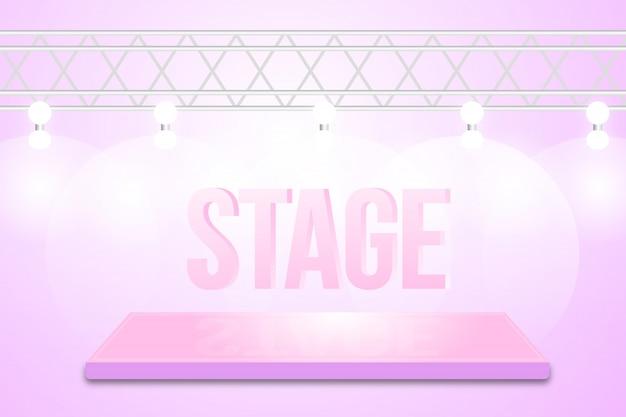 Dance stage background design Premium Vector