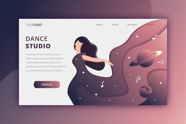 Dance studio landing page Premium Vector