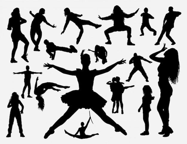 Dance training silhouette Premium Vector