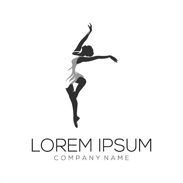 Premium Vector | Dancer logo design vector abstract