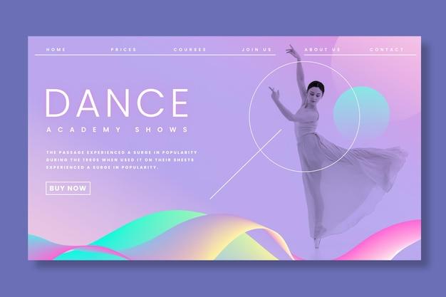 Pagina di destinazione del balletto danzante Vettore gratuito