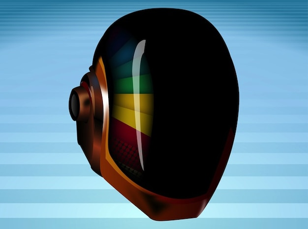 Dancing Daft punk mask vector