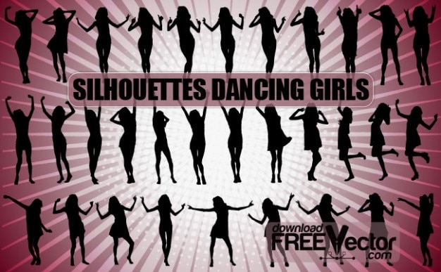 Dancing Girls Silhouettes | All\ Silhouettes