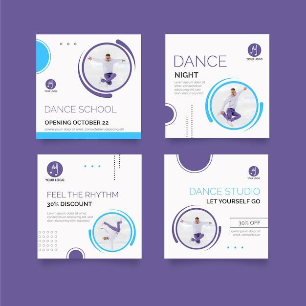 Post di instagram danzanti Vettore gratuito