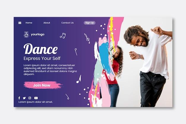 Целевая страница танцев Бесплатные векторы