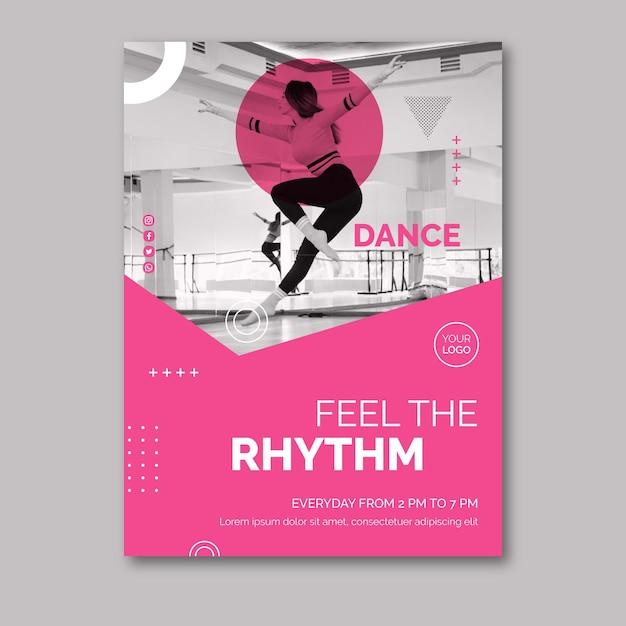 Шаблон танцевального плаката Бесплатные векторы
