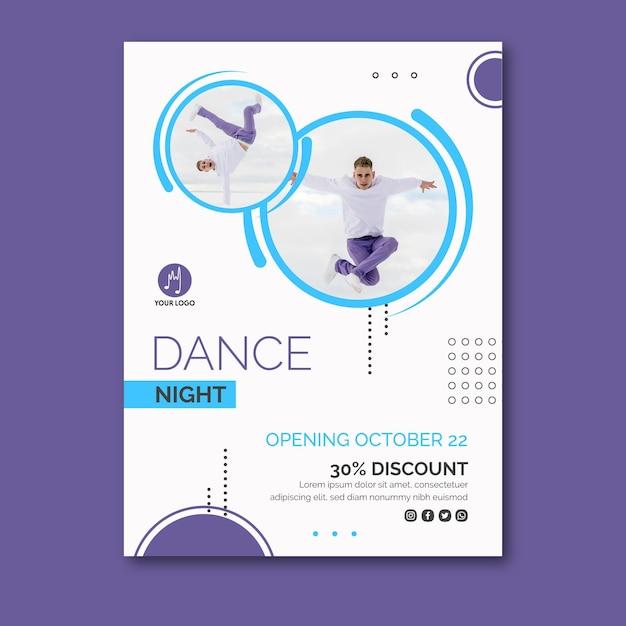 Modello di poster di ballo Vettore gratuito