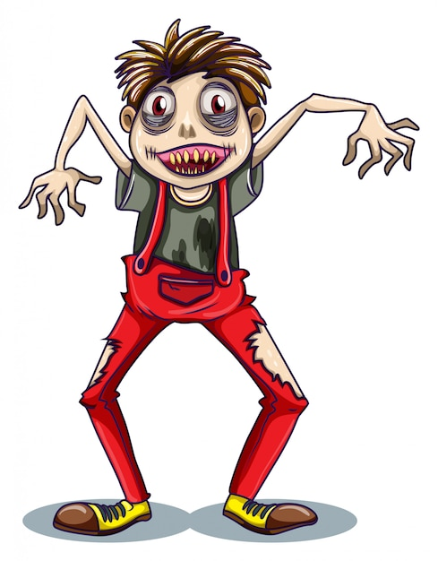 A dancing zombie Free Vector