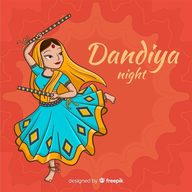Dandiya night background Free Vector