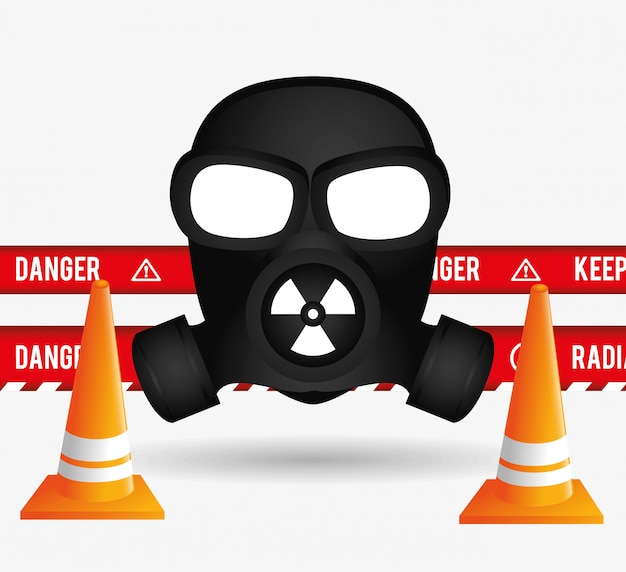 Danger advertising design. Free Vector