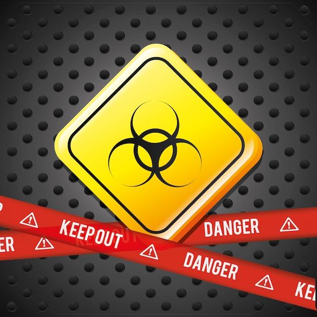 危険広告デザイン。 無料ベクター