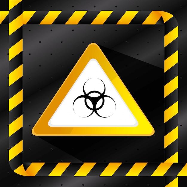 Danger advertising design. Free Vector