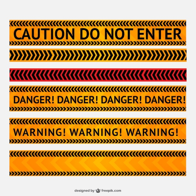 Danger and warning line vector Free Vector