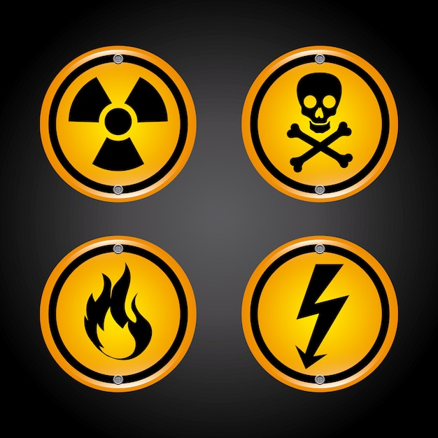 Danger  over black   illustration Free Vector