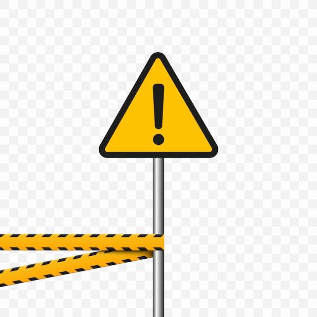 Символ опасности. треугольник на прозрачном фоне. предупреждающий знак высокое напряжение, опасность. Premium векторы