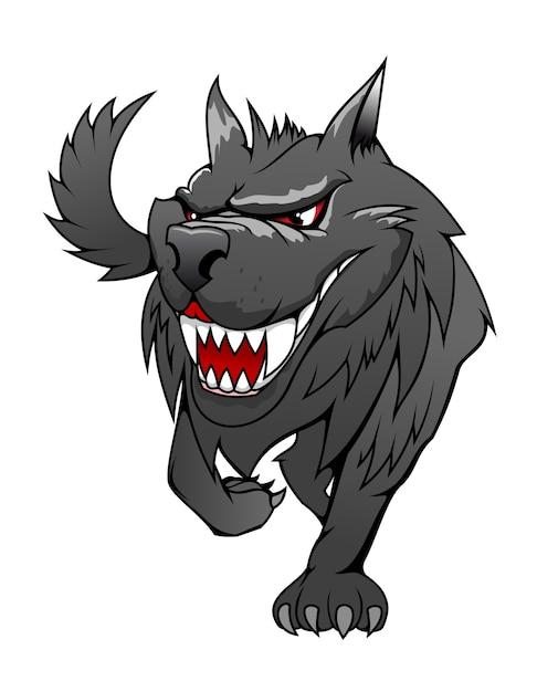 Danger wolf Premium Vector
