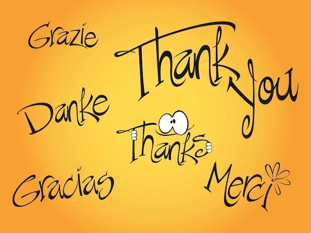 danke gratitude communication vector pack Free Vector By freevector