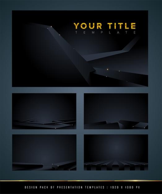 Dark abstract background set Premium Vector