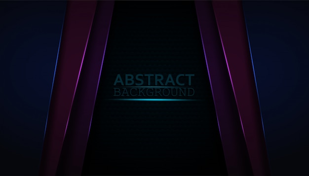 Dark abstract background with colorful overlay layers. Premium Vector