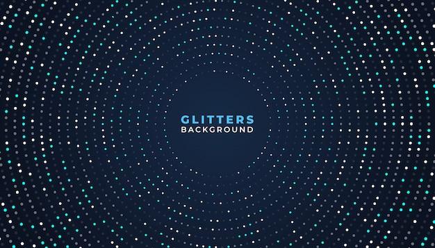 Dark abstract background with glitter elements Premium Vector