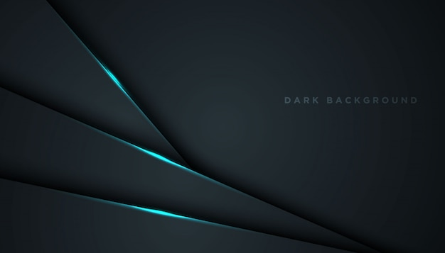 Premium Vector Dark Abstract Background With Overlap Layers